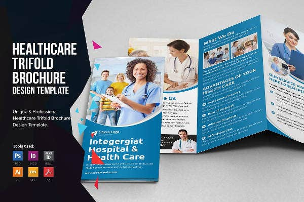 Medical – Free Tri-Fold PSD Brochure Template – by ... |Medical Tri Fold Brochure Template