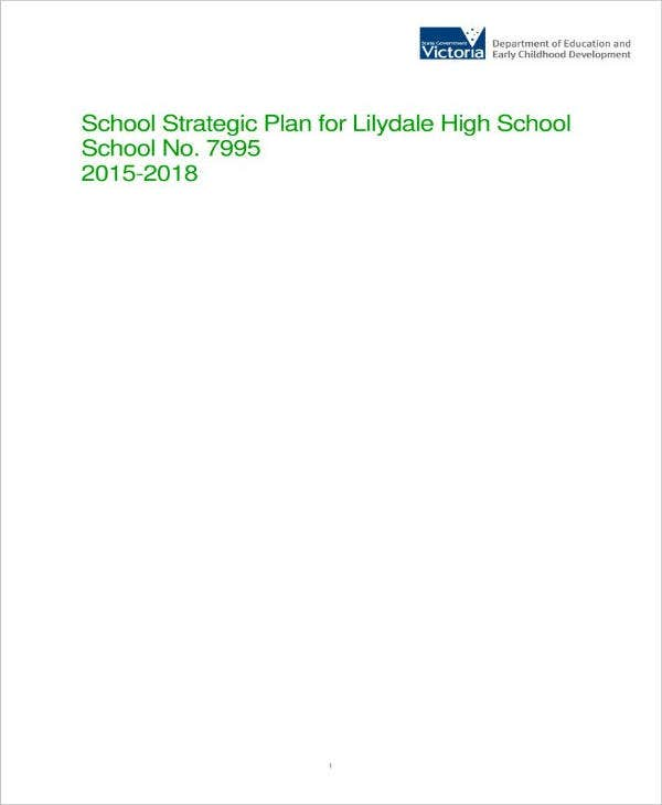 High School Strategic Plan Example