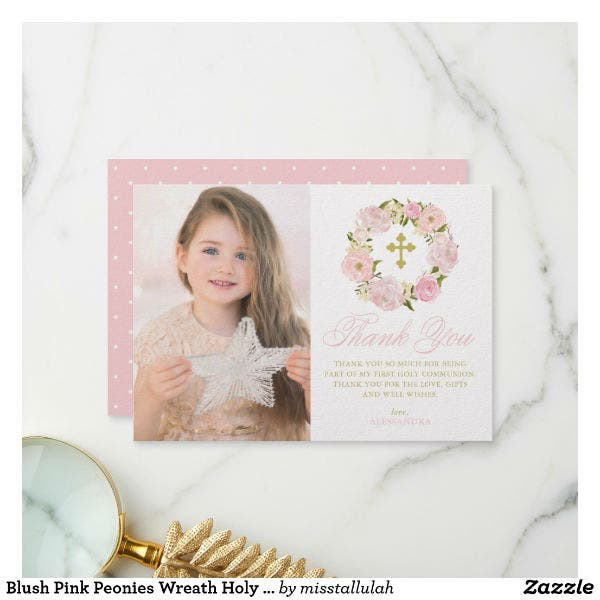 holy communion thank you card template