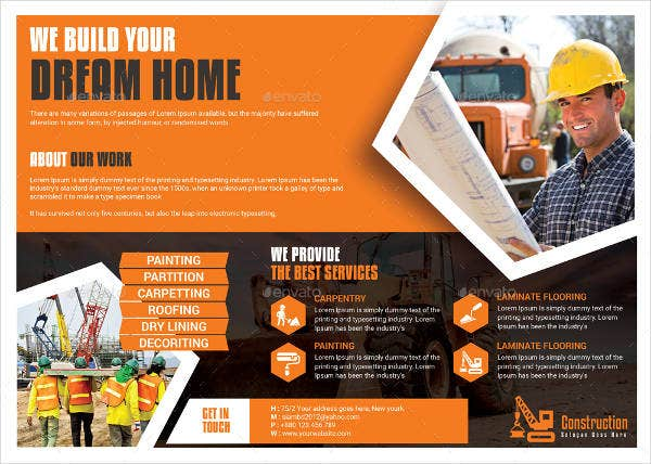 Home Construction Flyer Template
