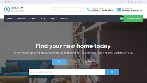 Homely Real Estate Website Template