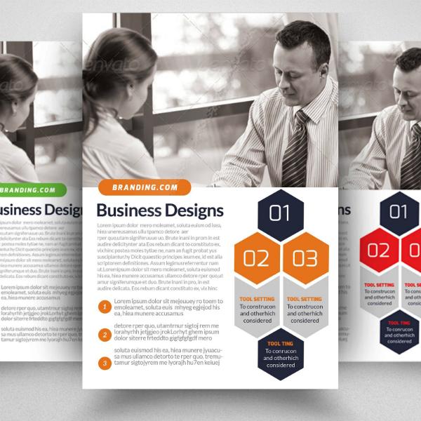 Honeycomb Branding Business Analyst Flyer Template