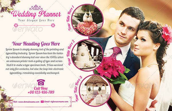horizontal wedding planner flyer template