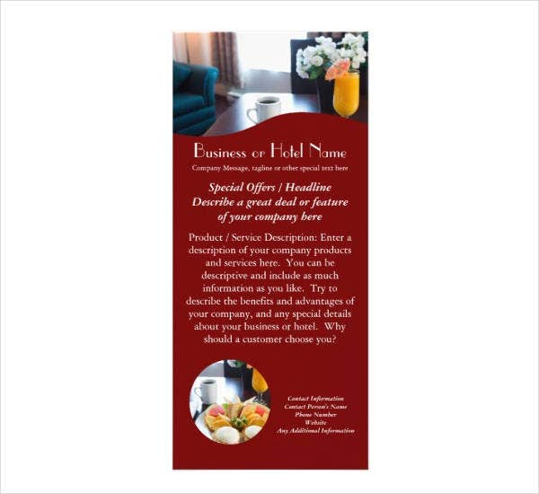 Hotel & Business Rack Card Example