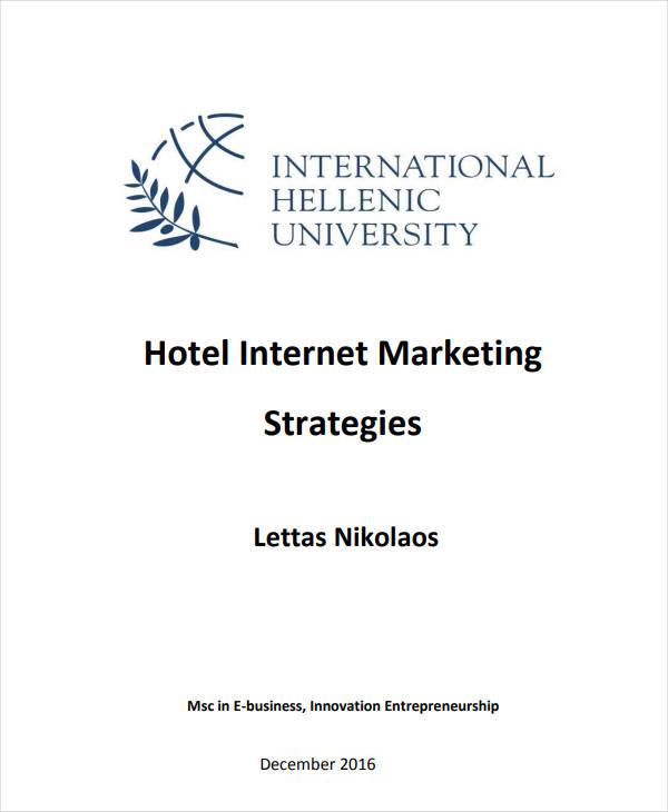 hotel internet marketing plan strategies