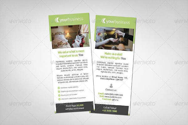 Hotel Rack Card Example