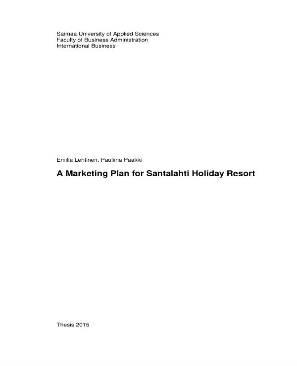 hotel and resort marketing plan 011