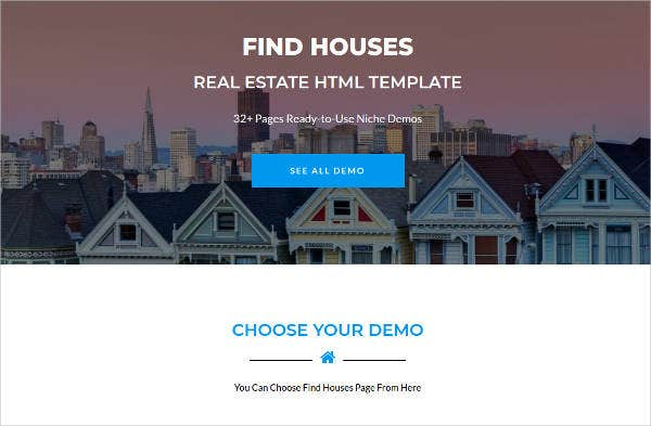 Houses Real Estate Website Template