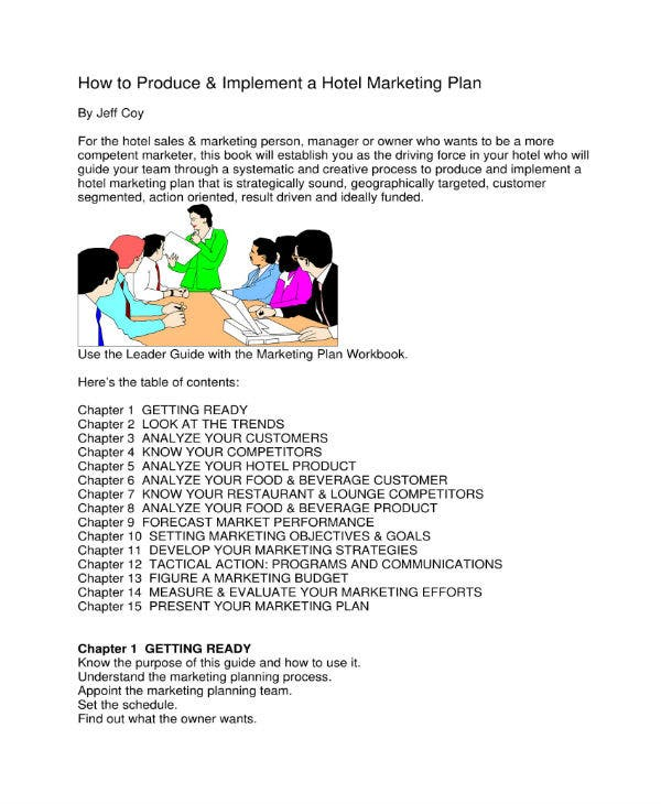 how to produce hotel marketing plan 1