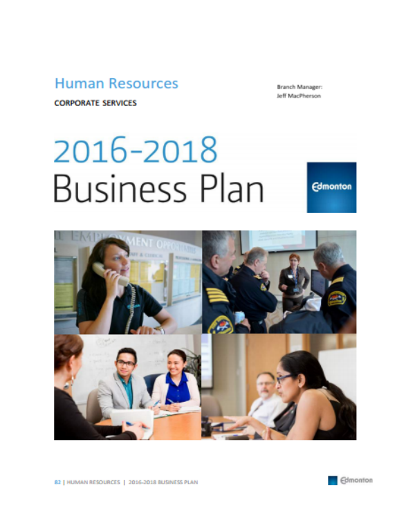 human resources business plan 2016 2018