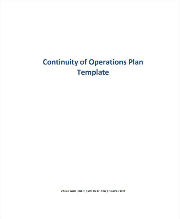 it continuity of operations plan