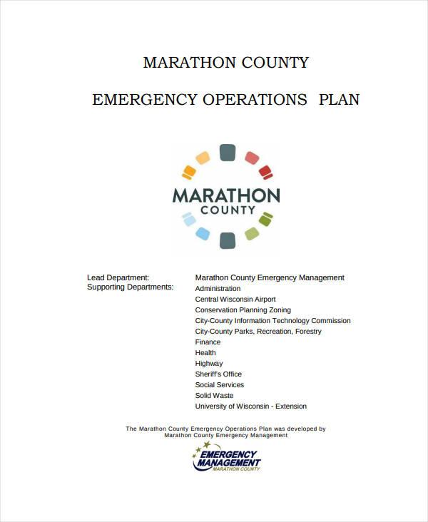 it emergency operational plan
