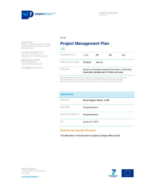 it project management plan sample