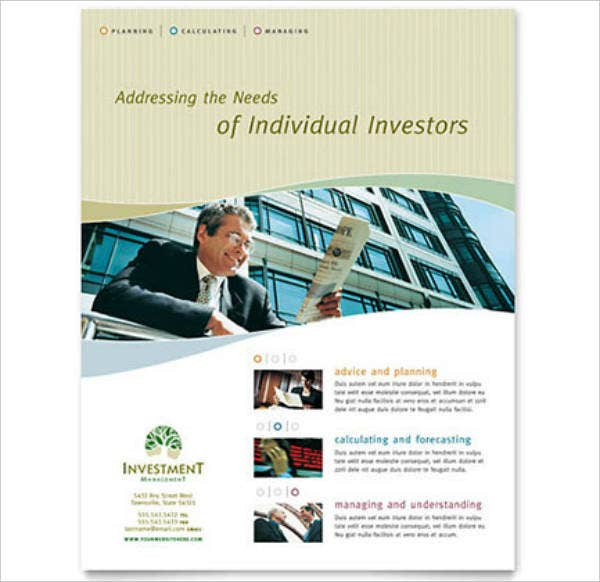 Individual Investors Management Flyer Template