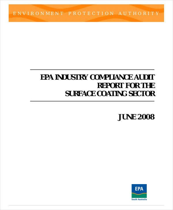 industry compliance audit report