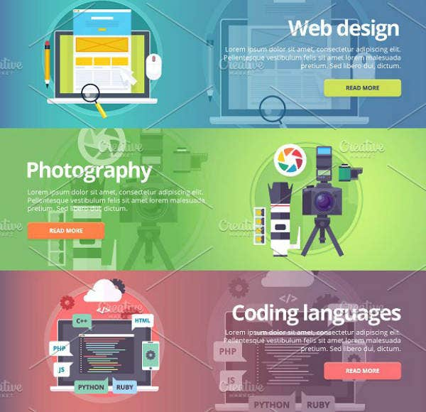 Info-graphics Technology Banner Template
