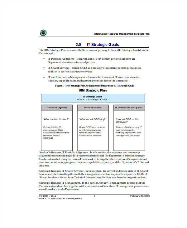 information resource management strategic plan