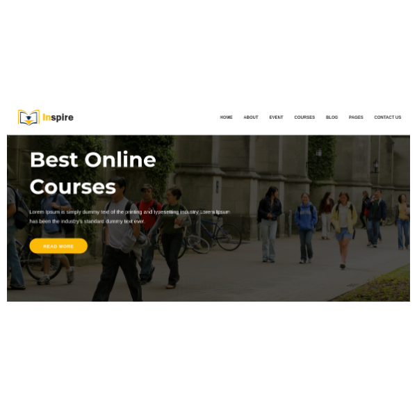 Inspire - Education Learning Theme For Education Courses School HTML