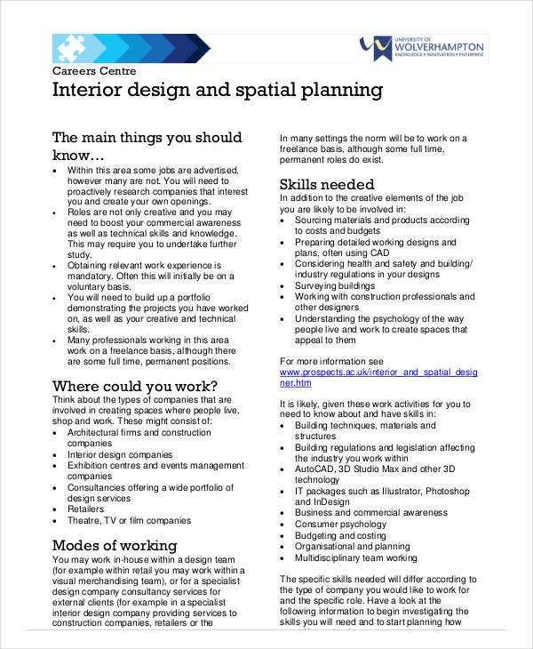 Interior Design Business Plan Format