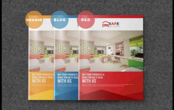 Interior Products Bi-Fold Brochure Template