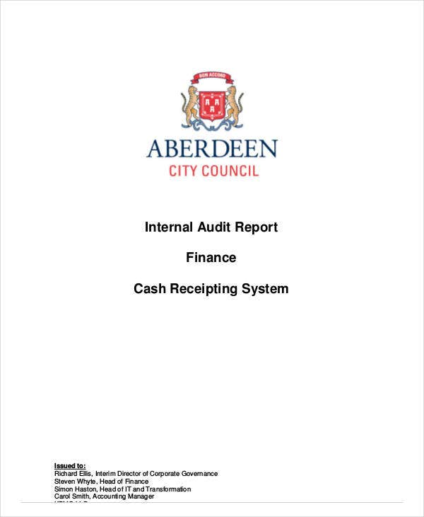 internal system audit report