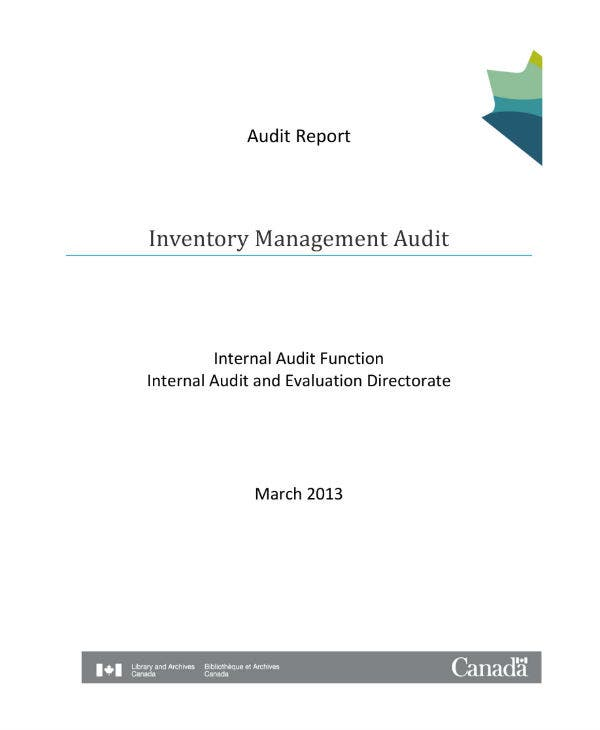 inventory management audit report