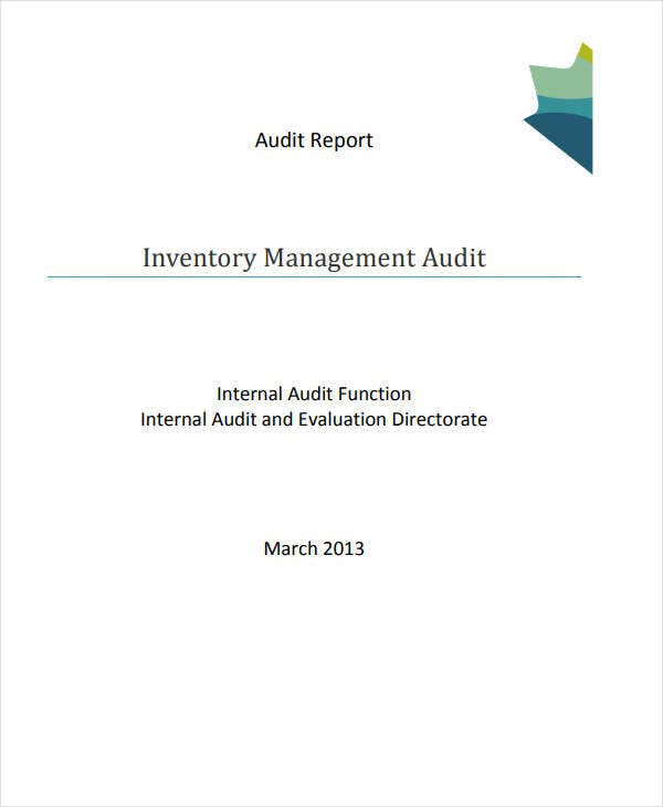 inventory management audit report1