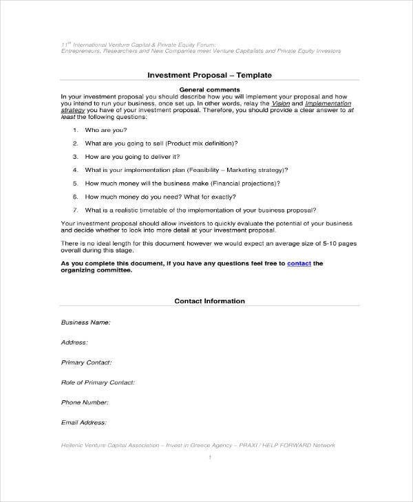investment proposal template2