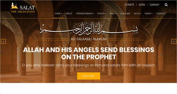 Islamic Center HTML5 Responsive Template