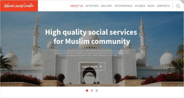 Islamic Social Center Website Template