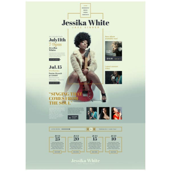Jazz Singer Responsive Website Template