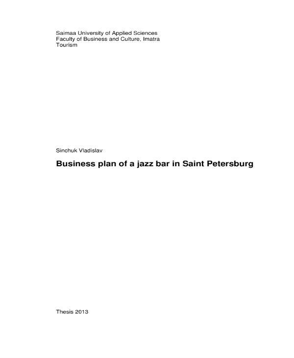jazz bar business plan 01