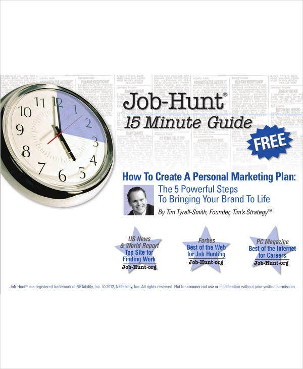 Job Hunt Personal Marketing Plan