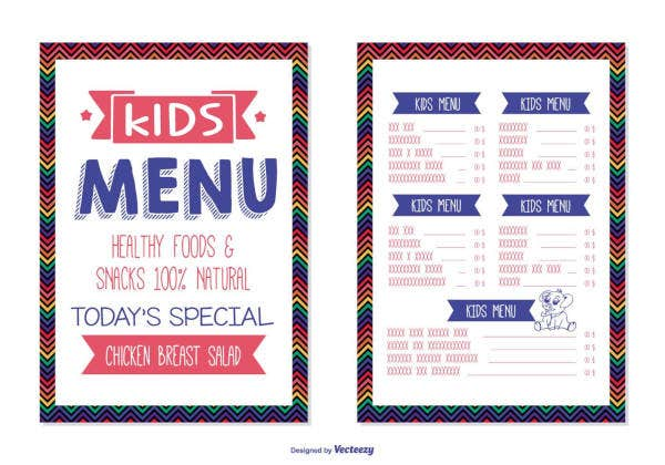 kids-menu-template