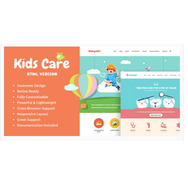 kidscare multi purpose children site template