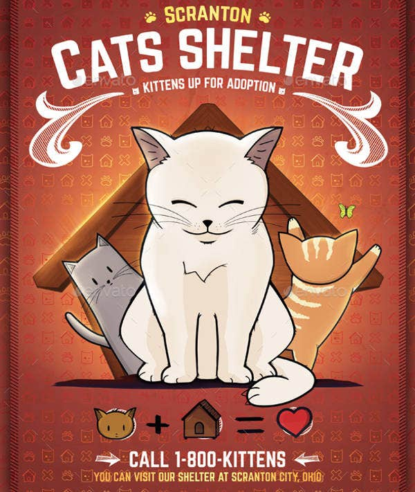Kitten Rescues Flyer Template