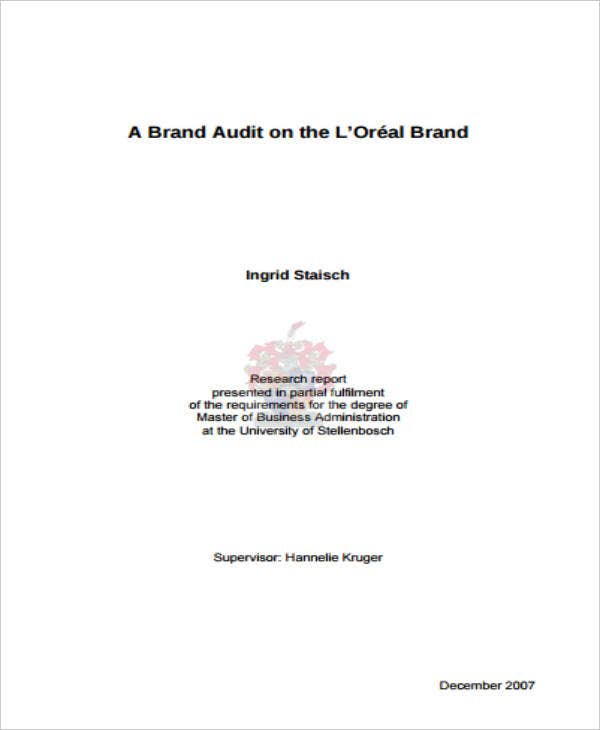 loreal brand audit report