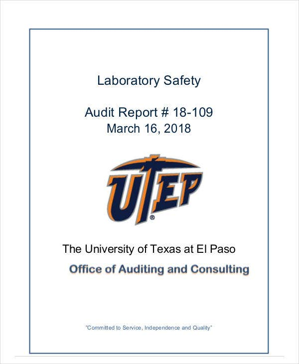 laboratory safety audit report