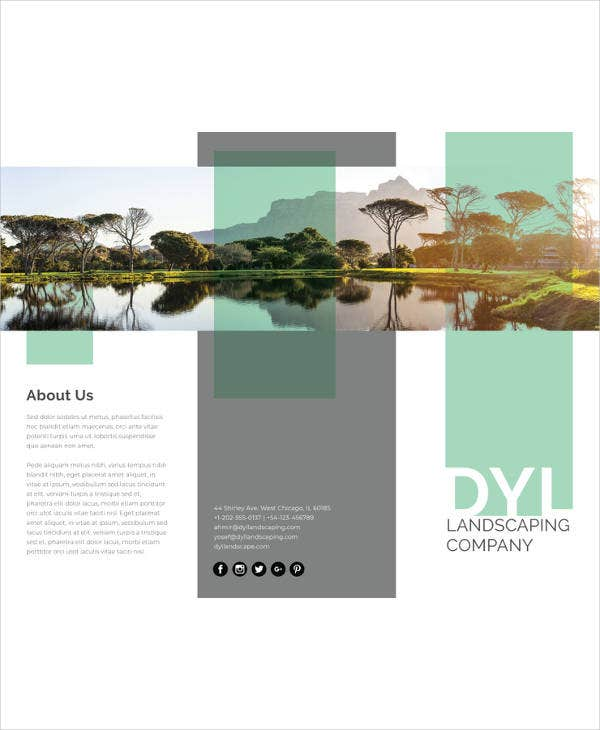 27 landscape brochures free psd eps ai format download free