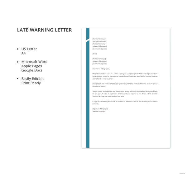 late warning letter template