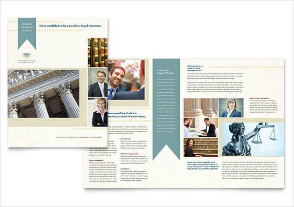 Law Firm Half-Fold Brochure Template