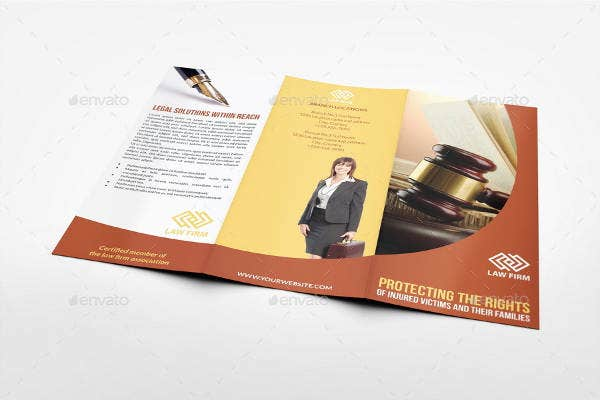 Law Firm Tri Fold Brochure Design