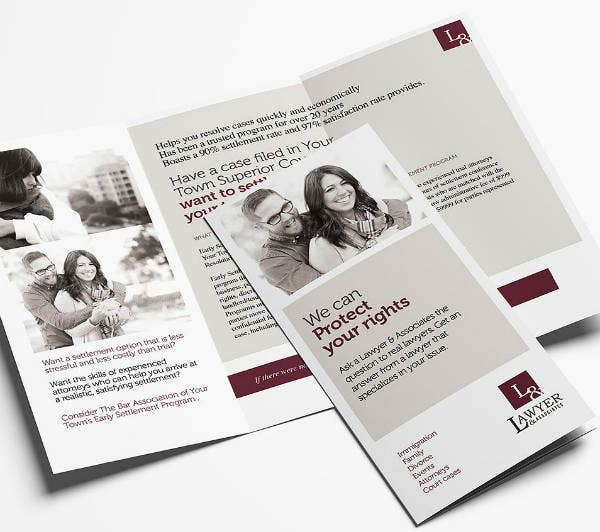 Law Firm Tri-Fold Brochure Example
