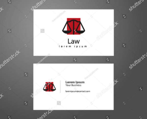 Lawyer Business Card Sample