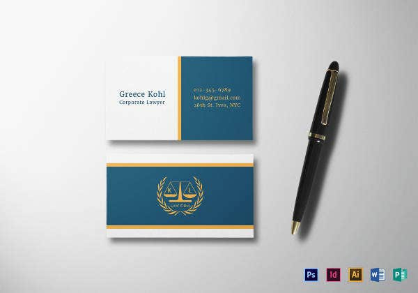 lawyer business card template