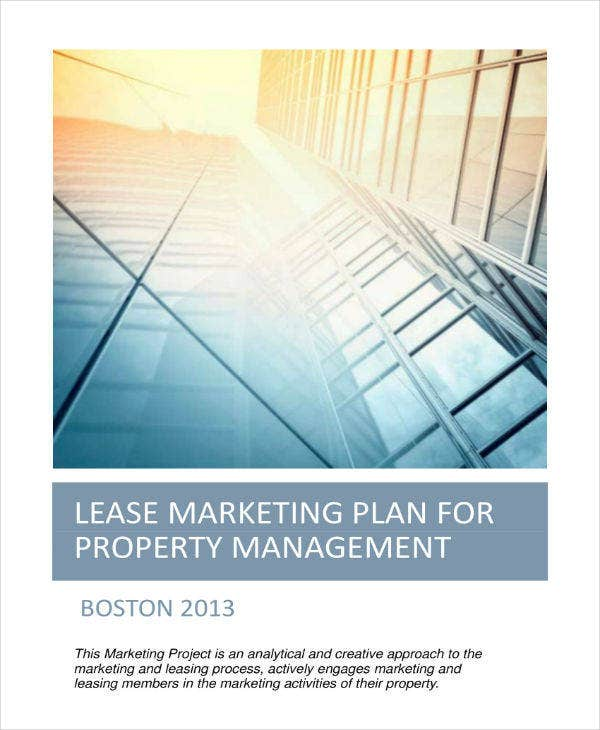 lease marketing plan example