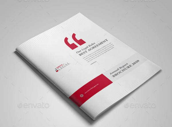 Legal Corporate Attorney Brochure Booklet Template