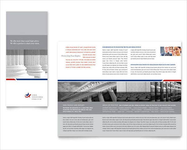 Legal Government Services Brochure Template