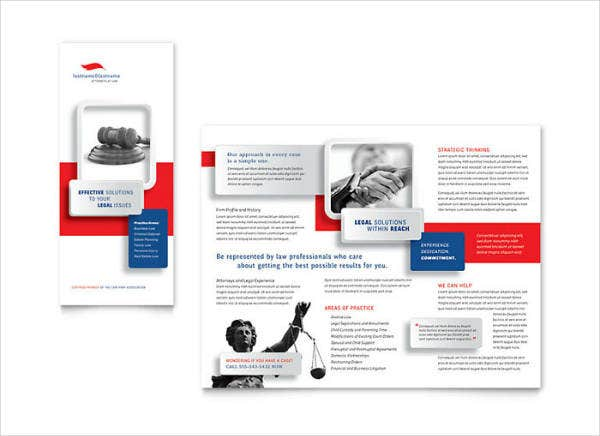 Legal Services Brochure Template