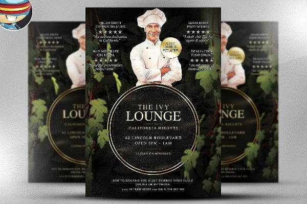Lounge Restaurant PSD Flyer